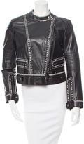 Roberto Cavalli Patterned Leather Jacket