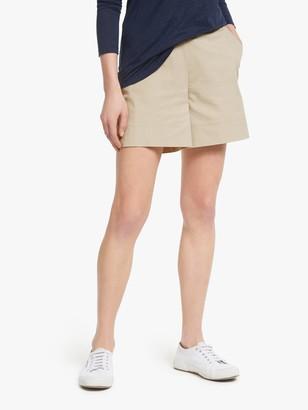Winser London Cotton Twill Elasticated Waist Shorts, Stone