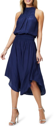Ramy Brook Carlie Blouson Satin Midi Dress