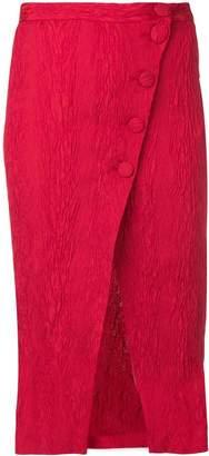 ALEXACHUNG Alexa Chung split wrap front midi skirt