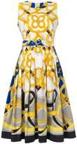 Samantha Sung printed tie detail dress