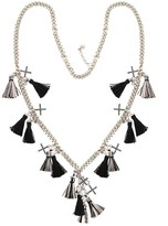 Nicole Miller Long Layer Tassels Chain Necklace