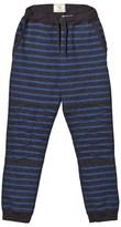 Scotch Shrunk Charcoal and Blue Stripe Sweat Pants