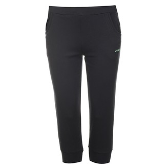 L.A. Gear Womens Ladies Three Quarter Interlock Pants Trousers Bottoms Clothing Black 10 (S)