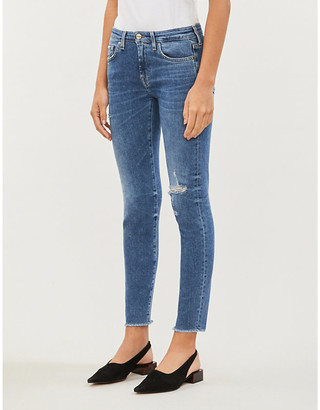 7 For All Mankind Pyper slim-fit skinny cropped jeans