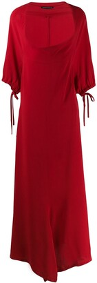 Yohji Yamamoto Pre Owned 1990's Deep Round Neck Long Dress