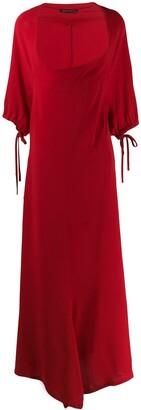 Yohji Yamamoto Pre-Owned 1990's deep round neck long dress