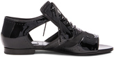 Givenchy Cut Out Patent Leather Flats
