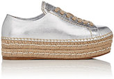 Prada Women's Leather Espadrille Platform Sneakers