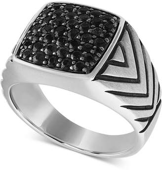 Black Diamond Esquire Men Jewelry Cluster Ring (1-1/4 ct. t.w.) in Sterling Silver