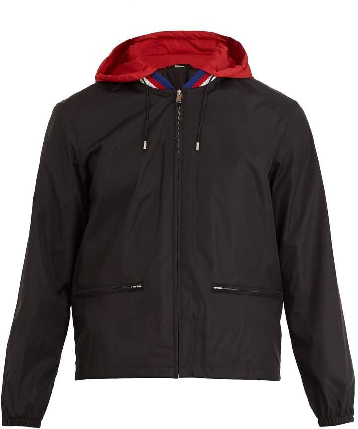 Gucci Logo-print hooded technical jacket