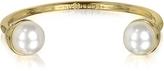 Tory Burch 16K Gold Plate Brass Pearl Bud Cuff