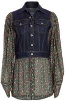 Junya Watanabe Floral Denim Combo Jacket