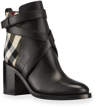 Burberry Pryle 70mm Vintage Check Ankle Booties
