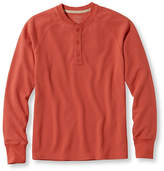 L.L. Bean Unshrinkable Waffle Shirt, Slightly Fitted Long-Sleeve Henley