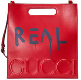 Gucci GucciGhost leather tote - men - Leather/Suede - One Size