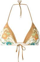Ermanno Scervino floral print bikini top