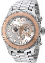 Invicta Subaqua Reserve Mens Silver-Tone Dial Stainless Steel Chronograph Watch 14034