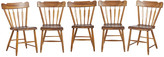 Rejuvenation Set of 5 Traditional Wood Dining Chairs