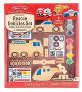 Melissa & Doug Decorate Your Own - DYO Rescue Vehicles Set