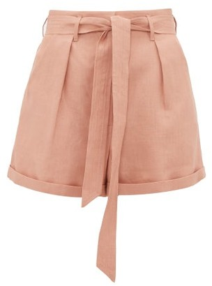 Loup Charmant Tellin Linen Shorts - Pink