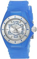 Technomarine Women's 'Cruise Jellyfish' Swiss Quartz Stainless Steel and Silicone Casual Watch, Color:Blue (Model: TM-115125)