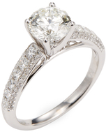 Rina Limor Fine Jewelry 18K White Gold & 0.56 Total Ct. Princess Cut Diamond Engagement Ring