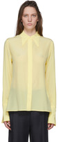 Victoria Beckham Yellow Silk 70s Collar Blouse