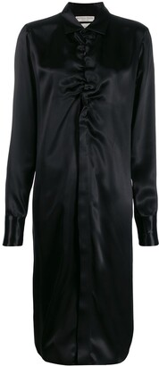 Bottega Veneta Ruched Midi Shirt Dress