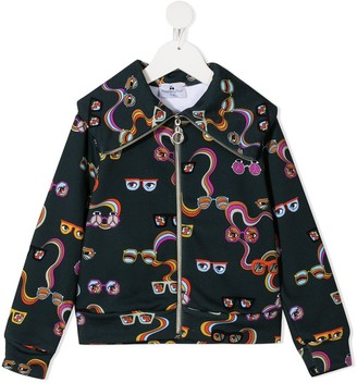 Raspberry Plum Sunglasses Print Jacket