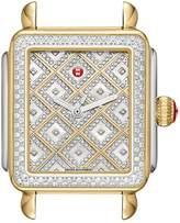 Michele Deco Diamond Square Watch Head, 35mm