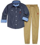 U.S. Polo Assn. 2-pc. Plaid Pant Set Boys