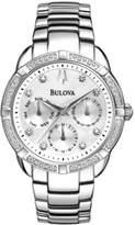 Bulova Women's Stainless Steel Bracelet Diamond Watch
