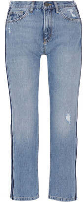 MiH Jeans Jeanne Cropped Distressed High-rise Straight-leg Jeans