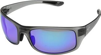 Maui Jim Big Wave (Translucent Matte Grey/Blue Hawaii) Athletic Performance Sport Sunglasses