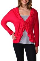 24/7 Comfort Apparel Long-Sleeve Flutter Shrug