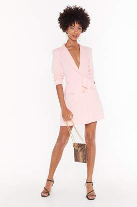 Nasty Gal Womens Belt Years Of My Life Belted Blazer Dress - Pink - L