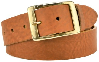 "Village Leathers Classic 1 1/2"" Tan Leather Belt"