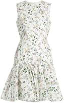 Giambattista Valli Floral-print sleeveless faille dress