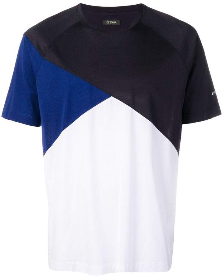 Ermenegildo Zegna colour-block fitted T-shirt
