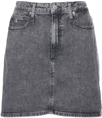 Calvin Klein Jeans Cotton Denim Mini Skirt