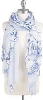 Tommy Hilfiger Final Sale- Map Print Scarf