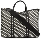 Pierre Hardy geometric pattern large tote - men - Calf Leather/Canvas - One Size