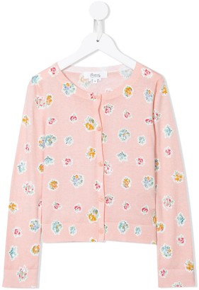 Bonpoint Floral Knit Cardigan