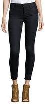 J Brand Jeans Alana Cropped Coated Jeans, Black Elixer