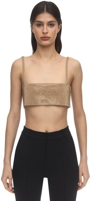 Nué Charlotte Crystal Crop Top