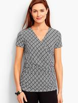 Talbots Ruched-Sides Surplice-Wrap Top - Celtic Circles