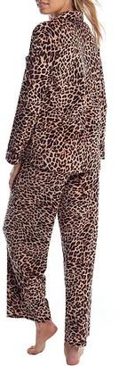 Donna Karan Natural Animal Velour Pajama Set