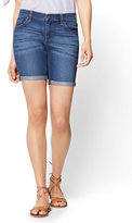 New York & Co. Soho Jeans - 7 Inch Short - Force Blue Wash