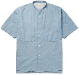 Nanamica Grandad-Collar Cotton-Chambray Overshirt